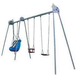 Balançoire Triple PMR à sceller (1 à 12 ans)