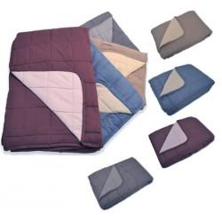 Lot de 6 jetés de lit bicolores matelassés 250g non feu M1 230x260 cm