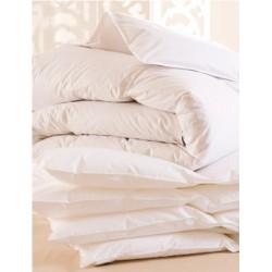 Lot de 6 couettes 140x200 cm 400g blanc 100% coton et fibres