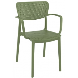 Fauteuil empilable Lucy vert olive