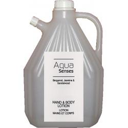 Lot de 4 recharges lotion corps et mains Aqua Sense 3 L