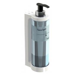 Distributeur de savon JVD Isiss translucide et blanc 300 ml