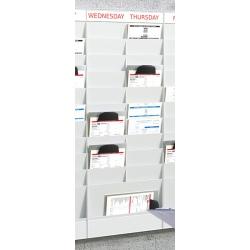 Planning 20 cases A4 : élément suivant H 126,3 x L 47,7 x P 4,6 cm