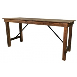 Table haute bois Tradition L232 x P90 x H110 cm