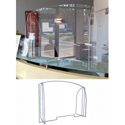 Panneau écran pléxi avec passe document L90 x P2,9 x H63,4 cm