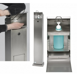 Distributeur de lavage des mains sans poubelle en inox