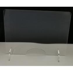 Grande protection plexi avec passe document L90 x H60 cm