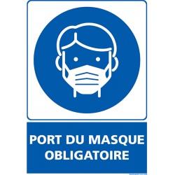 """Signalétique adhésif mur """"PORT DU MASQUE OBLIGATOIRE"""" L15 x H21 cm"""