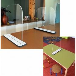 Lot de 5 séparateur de table L50 x P10 x H50 cm