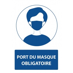 "Lot de 4 stickers autocollants A4 ""PORT DU MASQUE OBLIGATOIRE"""