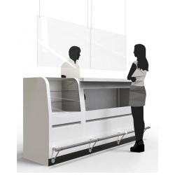 Plaque de protection hygiène avec perforations H60xL100 cm