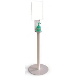 Totem gel hydroalcoolique avec porte-affiche A4 (le lot de 5)