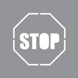 """Marquage au sol pochoir """"STOP """" pour bombe 40x40cm"""