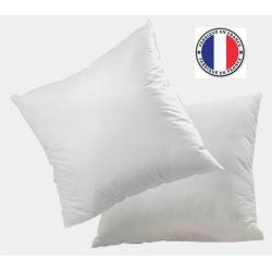 Lot de 8 oreillers blancs microfibres anti-tâche et fibres creuses 600 gr 60 x 60 cm