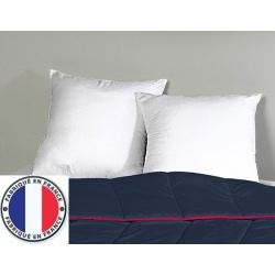 Lot de 7 oreillers blancs lavables à 90 polycoton et fibres creuses 650 gr 65 x 65 cm