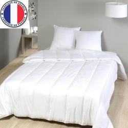 Lot de 8 oreillers blancs coton et fibres creuses 550 gr 45 x 70 cm