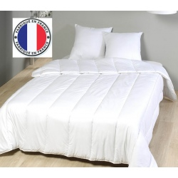 Lot de 8 oreillers blancs lavables à 90 coton percale et fibres creuses 600 gr 60 x 60 cm