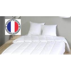 Lot de 5 oreillers blancs à mémoire de forme coton percale 800 gr 45 x 70 cm