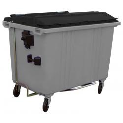 Bac roulant de collecte 100% recyclable 1700 L corps gris