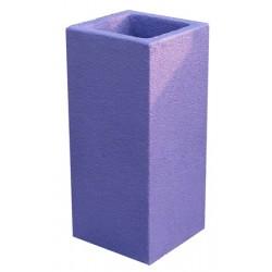 Cendrier Litchi béton coloré 33x33xH72 cm