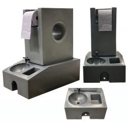 Station lave main nomade eaux propres et eaux usées 130 L finition grise qualité alimentaire