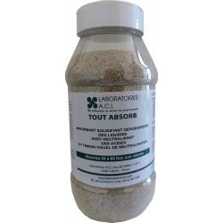 Lot de 12 flacons d'absorbant solidifiant désodorisant des liquides Toutabsorb 1L