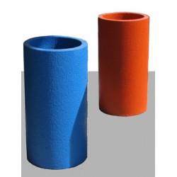 Cendrier Kumquat béton coloré diam 37xH70 cm
