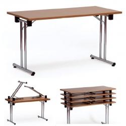Table pliante empilable Como 140x70 cm