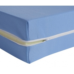 Housse de matelas ép 15 cm polyester M1 bleu 80x200 cm