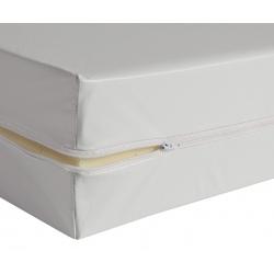 Housse de matelas blanche ép 13 cm polyuréthane M1 90x190 cm