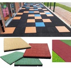 Bordure chanfreinée bi-matière pour sols écoles et crèches ép. 55 à 10 mm