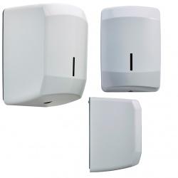 Distributeur d'essuie-main à dévidage central Design inox blanc 9016