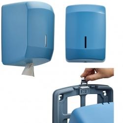 Distributeur d'essuie-main à dévidage central Design inox bleu 5024