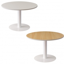 Table de réunion pied central 6 personnes ø 120 cm