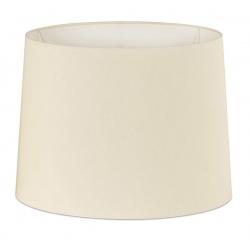 Abat-jour en textile blanc Ø21,5x16 cm