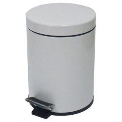 Lot de 6 poubelles à pédale métal coloris blanc 3 L