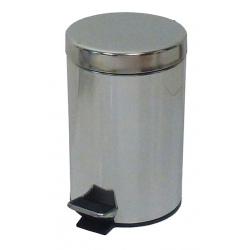 Lot de 4 poubelles  à pédale inox brillant 5 L