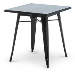Table de restaurant Atelier en acier noir 70 x 70 cm