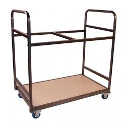 Chariot pour tables d'examen pliantes 60 x 60 cm