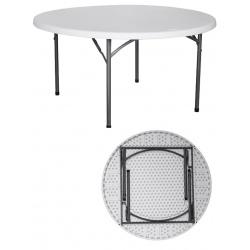 Table pliante polyéthylène Nîmes Ø150xH74 cm