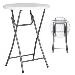Table cocktail polyéthylène Nimes Ø80xH110 cm