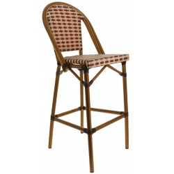 Chaise haute tressée Beaulieu structure bambou