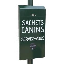 Distributeur de sacs canins en liasse