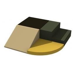 Motricité d'angle 4 modules ZEN H 40 cm