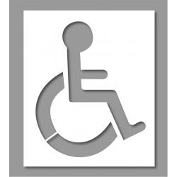 Pochoir place réservée Handicap 2 parties 100x120 cm