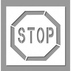 Pochoir Stop 60x60 cm