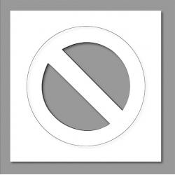 Pochoir interdiction de stationner 80x80 cm