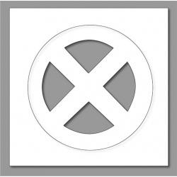 Pochoir interdiction arrêt 60x60 cm