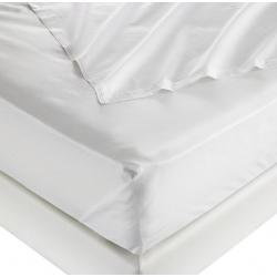 Drap plat 100% coton blanc 125 g 250x310 cm (le lot de 15)