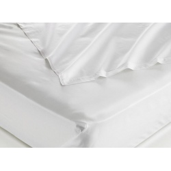 Taie d'oreiller 100% coton blanc 125 g portefeuille avec rabat 65x65 cm (le lot de 100)